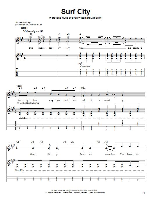 Surf City sheet music
