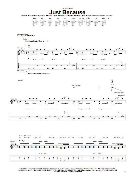 Just Because sheet music
