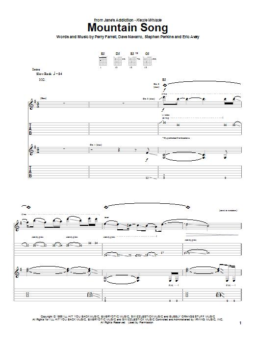 Mountain Song sheet music