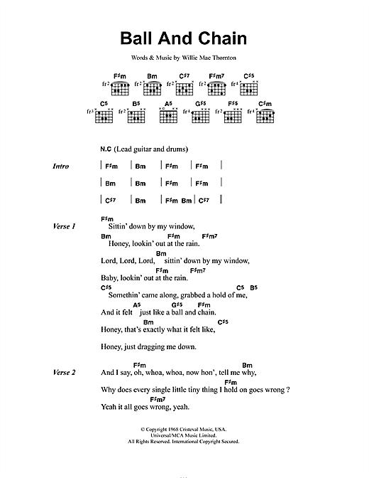 Ball And Chain sheet music