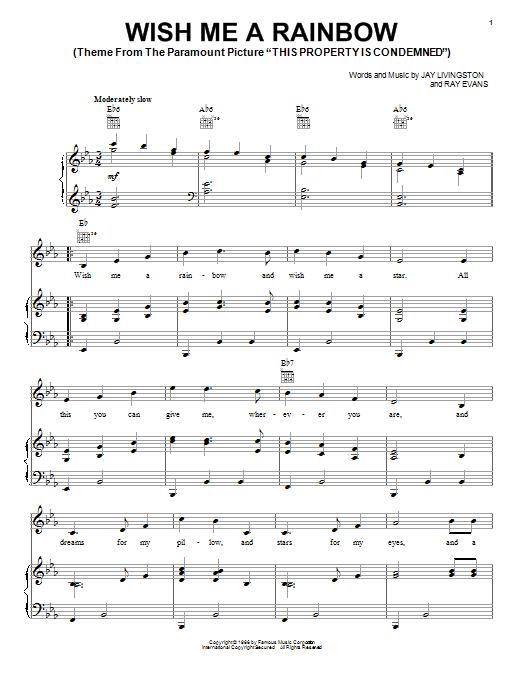 Wish Me A Rainbow sheet music