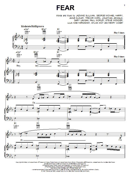 Fear sheet music
