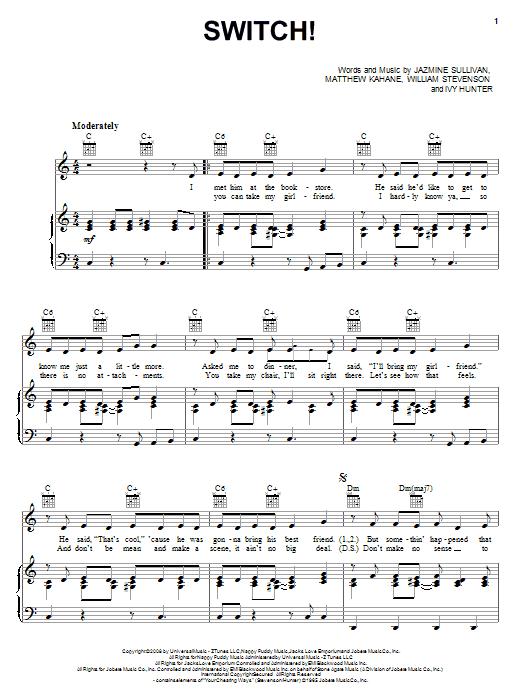 Switch! sheet music