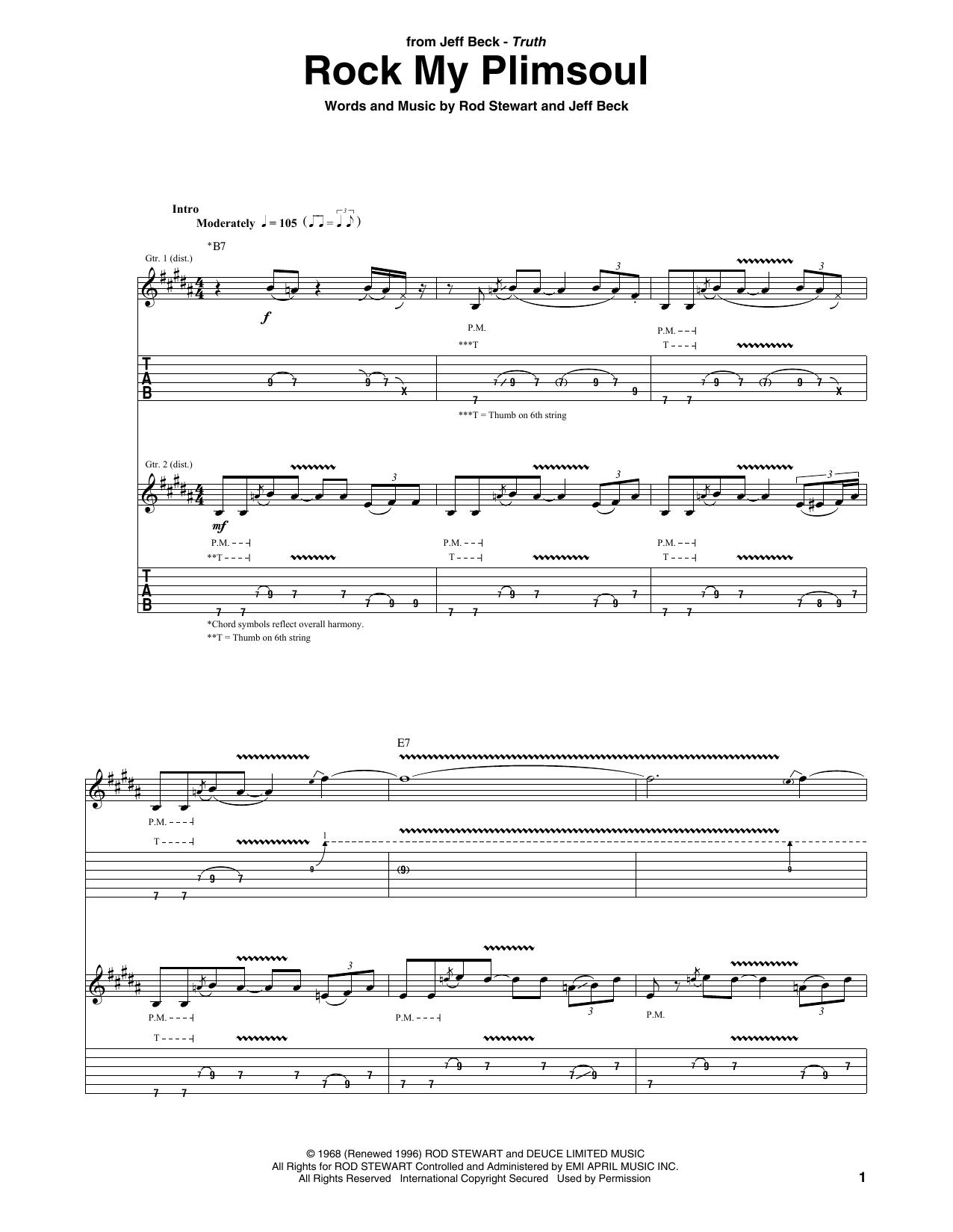 Rock My Plimsoul sheet music