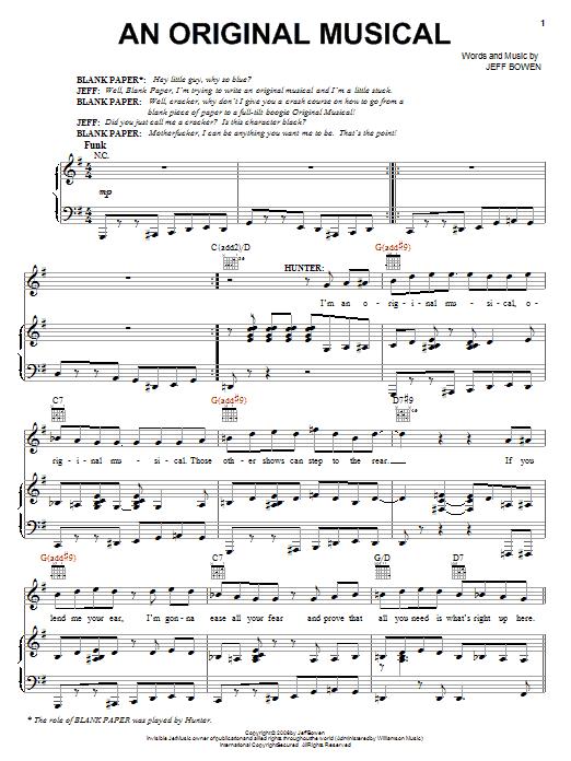 An Original Musical sheet music