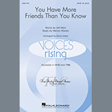 Download Jeff Marx and Mervyn Warren You Have More Friends Than You Know (arr. Dave Volpe) sheet music and printable PDF music notes