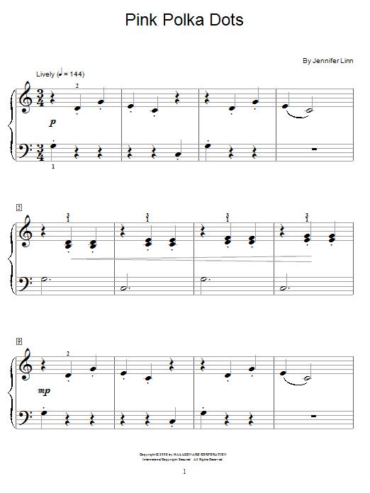 Pink Polka Dots sheet music