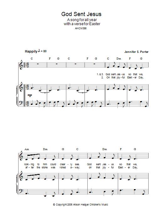 God Sent Jesus sheet music