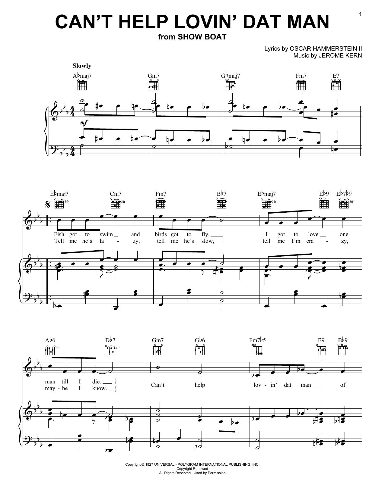 Can't Help Lovin' Dat Man sheet music