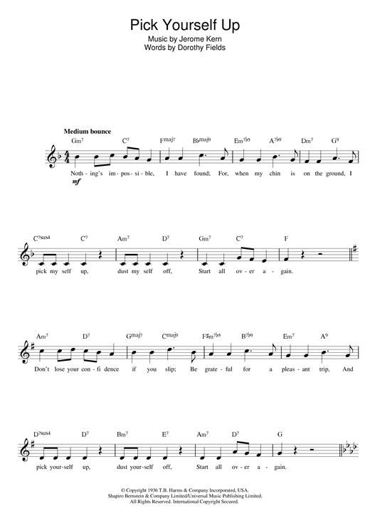 Pick Yourself Up sheet music