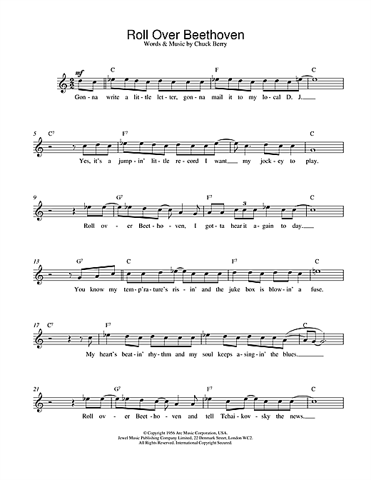 Roll Over Beethoven sheet music