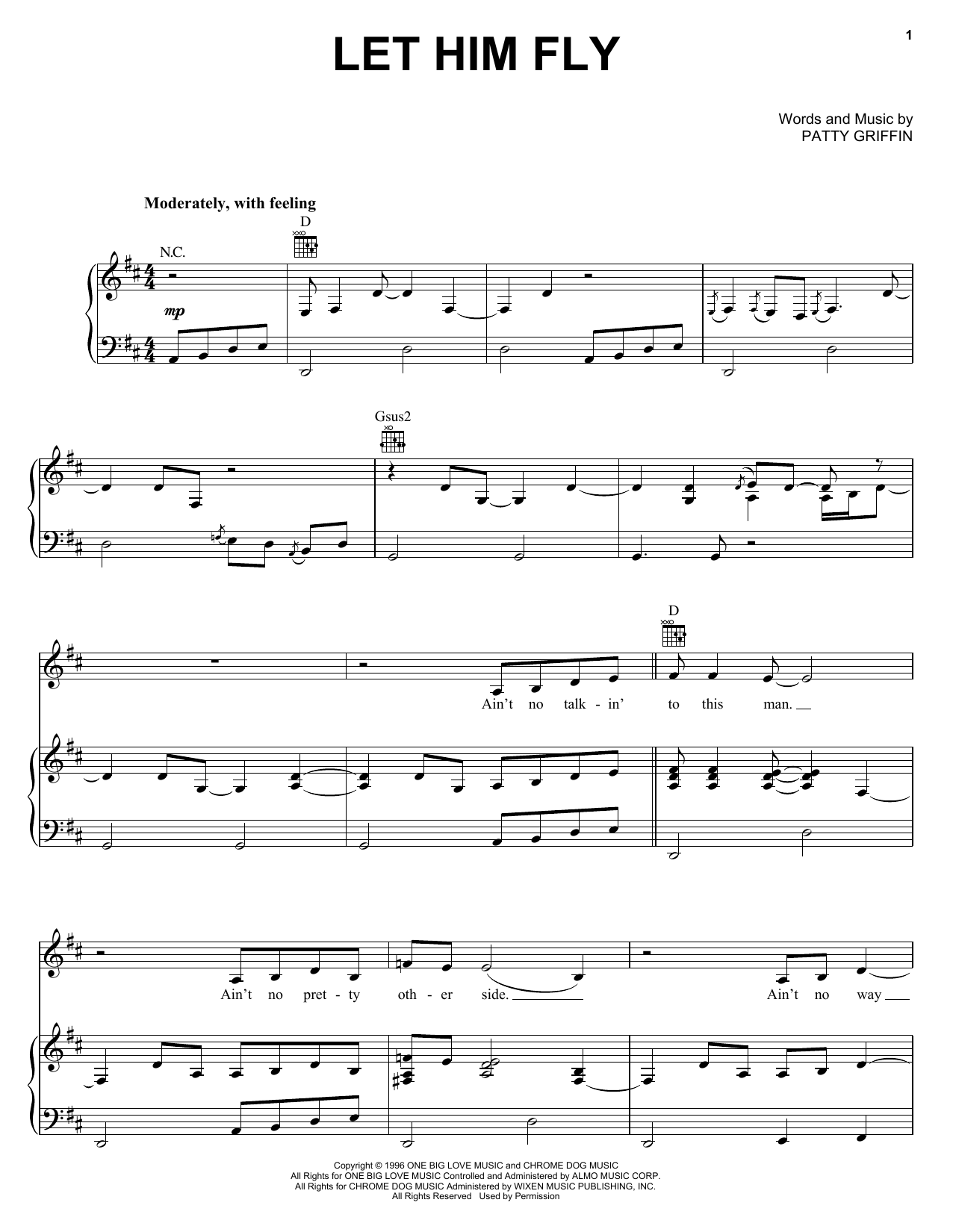 Let Him Fly sheet music