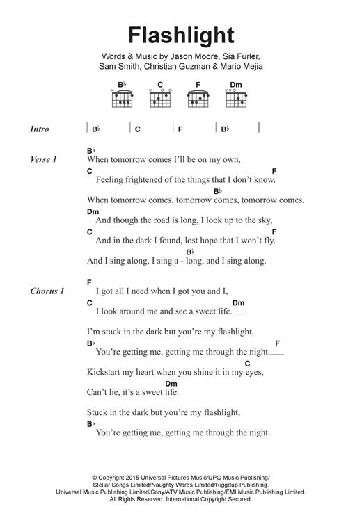 Flashlight sheet music