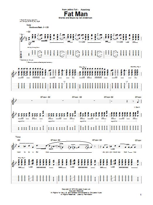 Fat Man sheet music