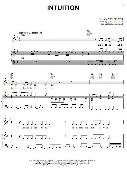 Intuition sheet music