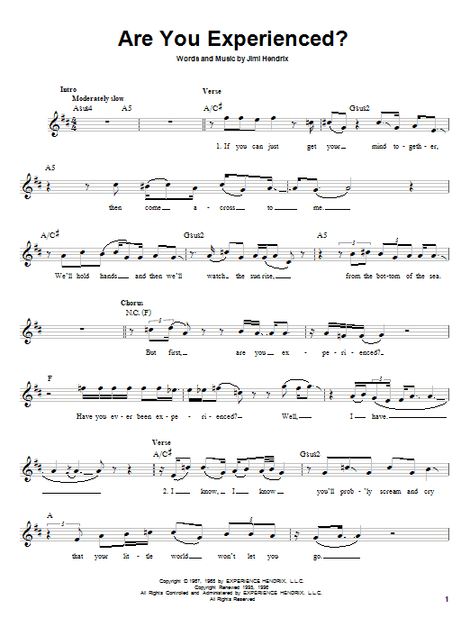 Are You Experienced? sheet music