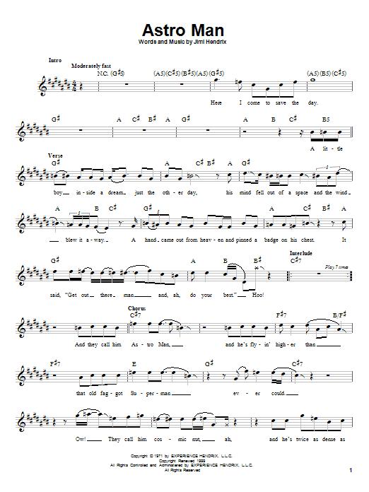Astro Man sheet music