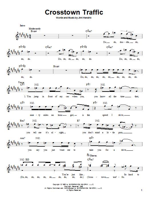 Crosstown Traffic sheet music