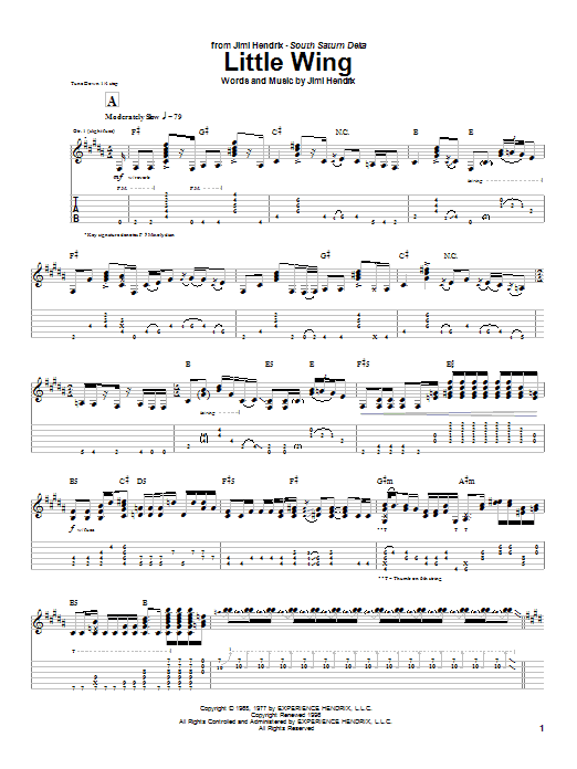 Little Wing sheet music