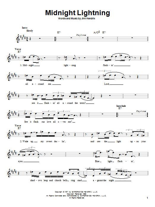 Midnight Lightning sheet music