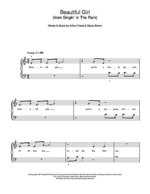 Beautiful Girl (from Singin' In The Rain) sheet music