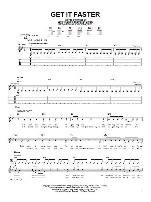 Get It Faster sheet music
