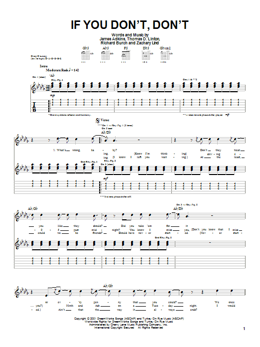 If You Don't, Don't sheet music