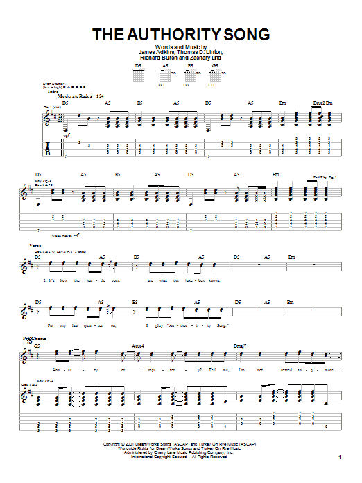 The Authority Song sheet music