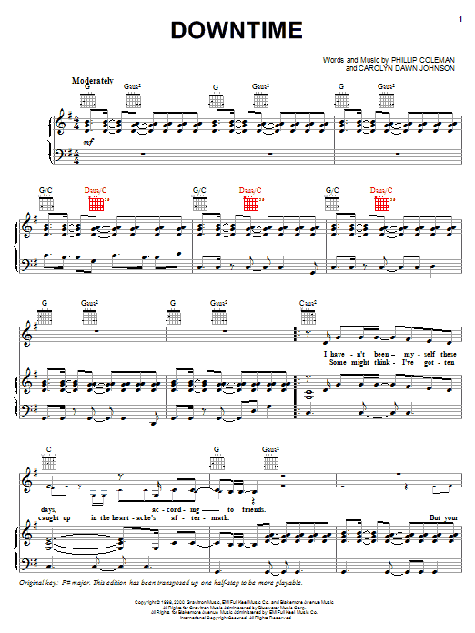 Downtime sheet music