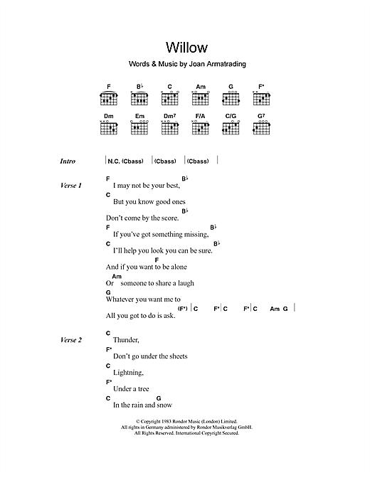 Willow sheet music
