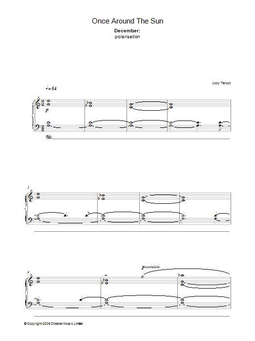 December (from Once Around The Sun) sheet music