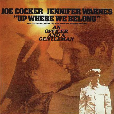 Joe Cocker and Jennifer Warnes, Up Where We Belong (from An Officer And A Gentleman), Melody Line, Lyrics & Chords