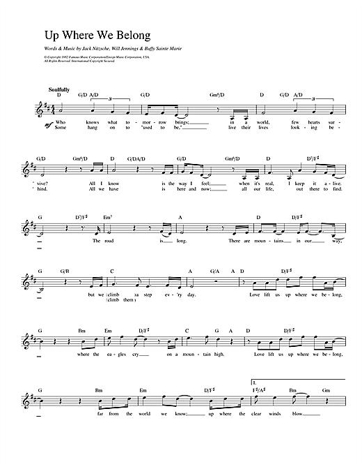 Up Where We Belong (from An Officer And A Gentleman) sheet music
