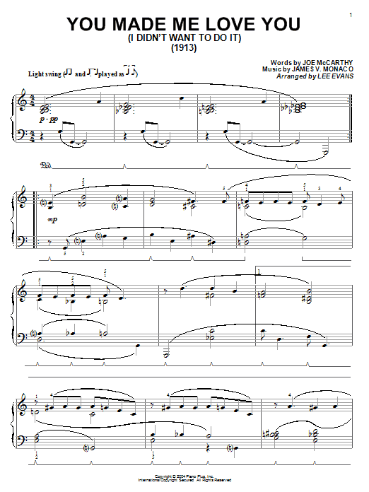 You Made Me Love You (I Didn't Want To Do It) sheet music