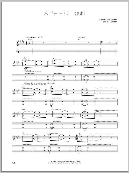 A Piece Of Liquid sheet music