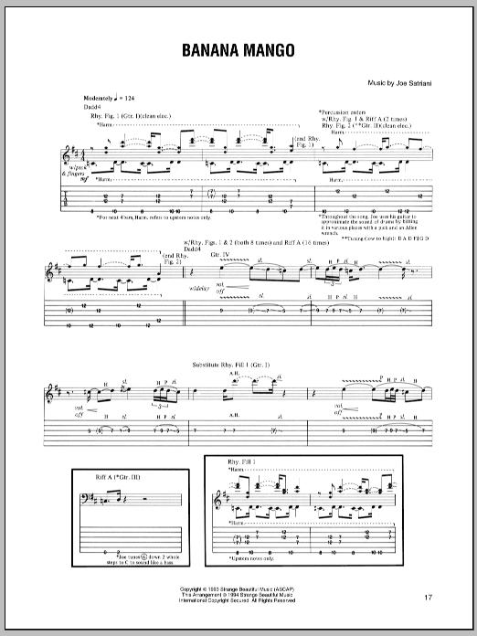 Banana Mango sheet music