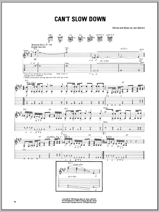 Can't Slow Down sheet music