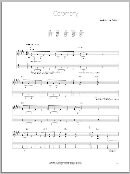 Ceremony sheet music