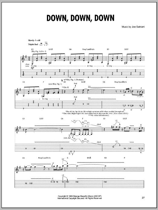 Down, Down, Down sheet music