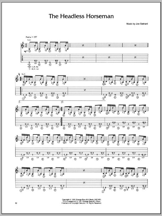 Headless Horseman sheet music