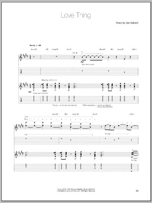 Love Thing sheet music