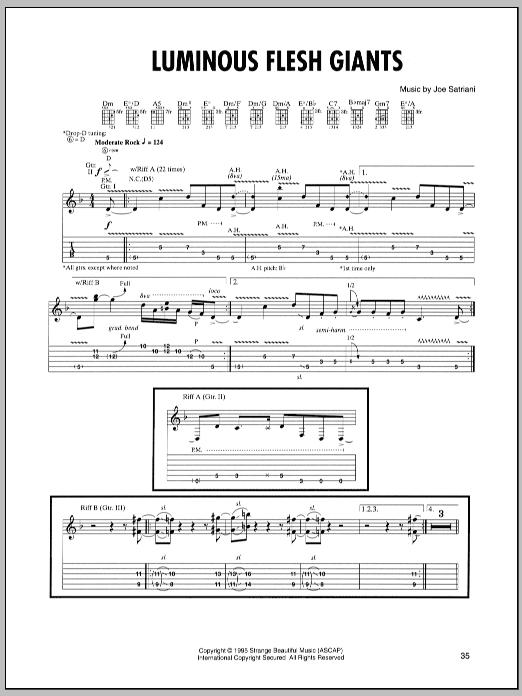 Luminous Flesh Giants sheet music