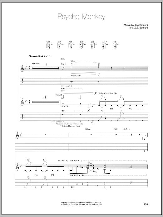 Psycho Monkey sheet music