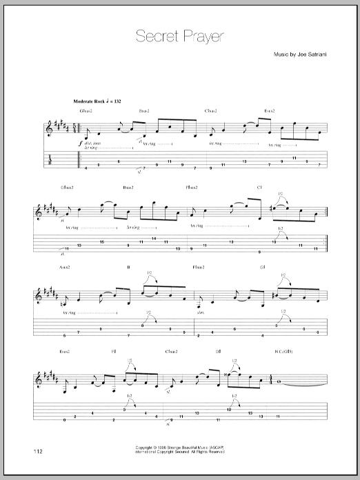 Secret Prayer sheet music
