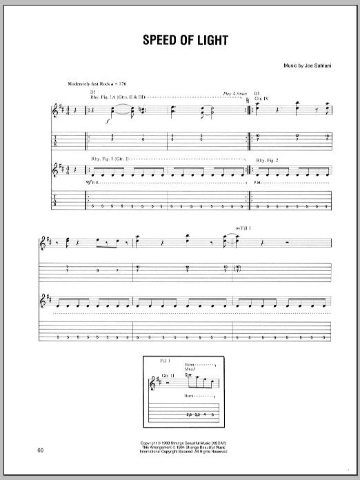 Speed Of Light sheet music