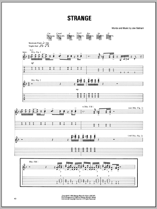 Strange sheet music