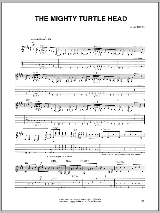The Mighty Turtle Head sheet music