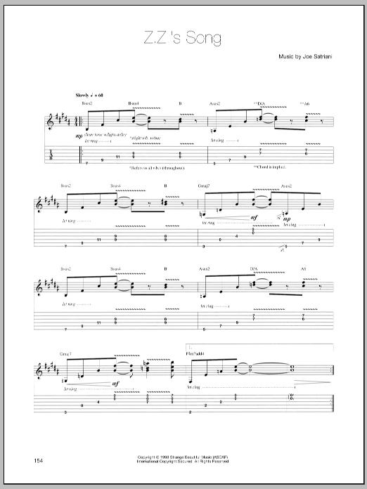 Z.Z.'s Song sheet music