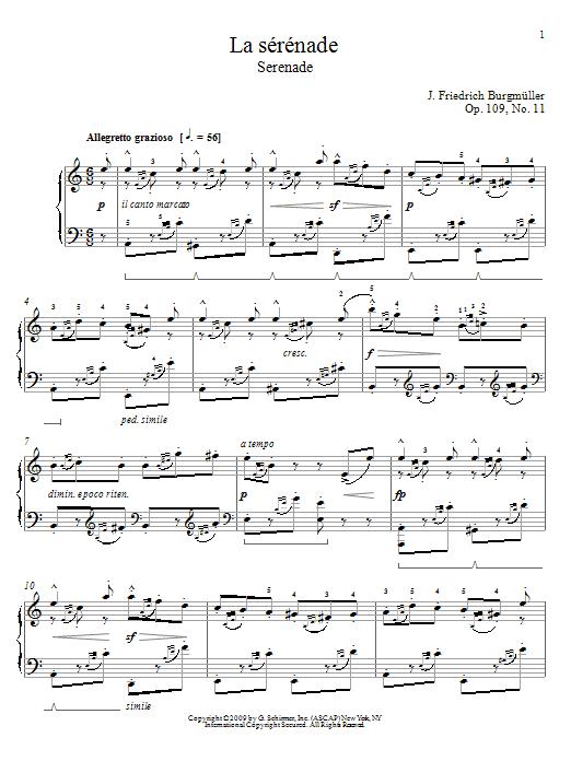 Serenade sheet music