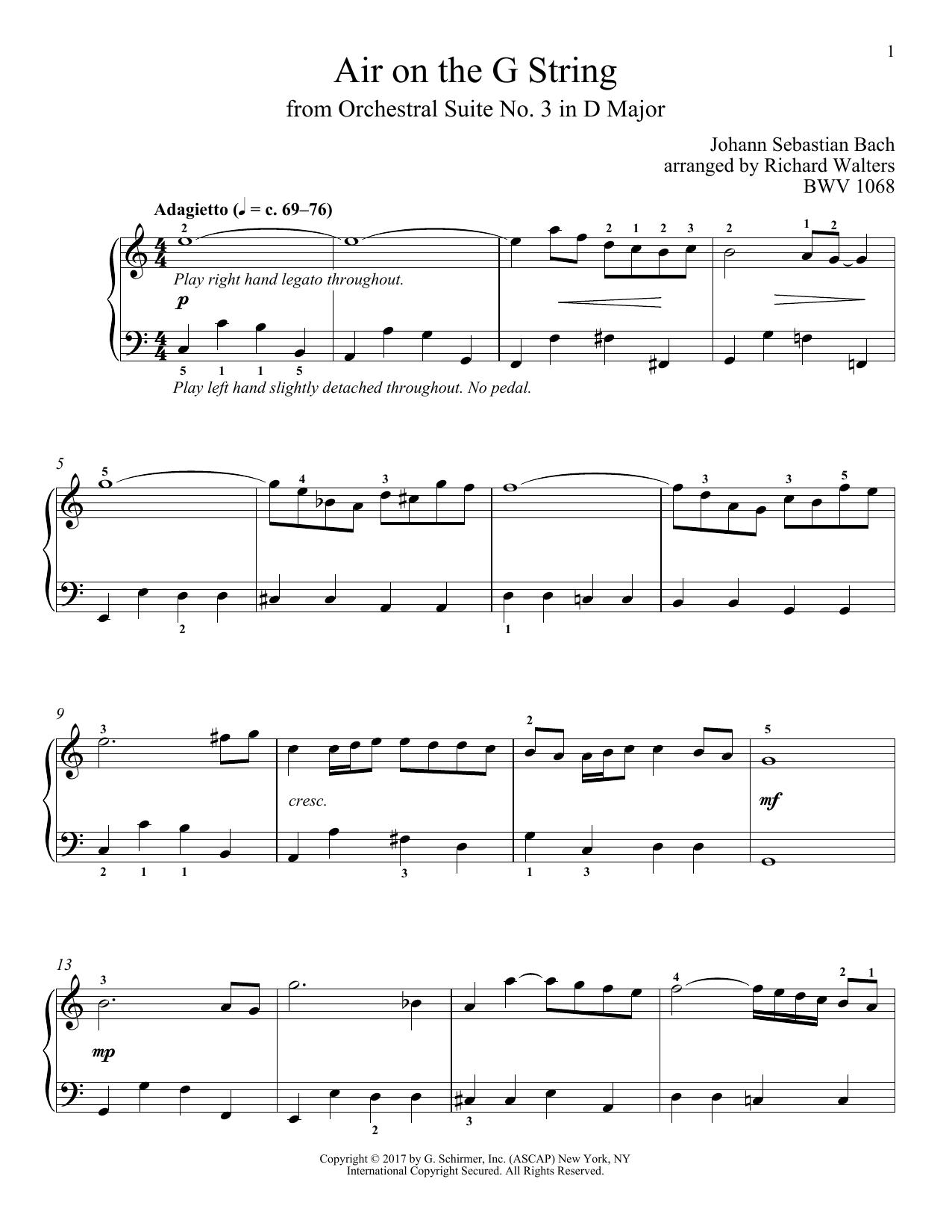 Air (Air On The G String) sheet music